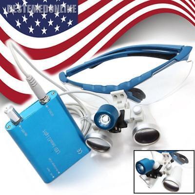 Fda Durable Dental Surgical Binocular 3.5x420 Loupes Glasses Lens Led Head Lamp