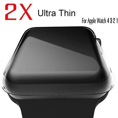 2 x Schutzhülle für Apple Watch-Serie 1 2 3 4 iWatch Crystal Clear Schutzhülle Crystal Clear Schutz