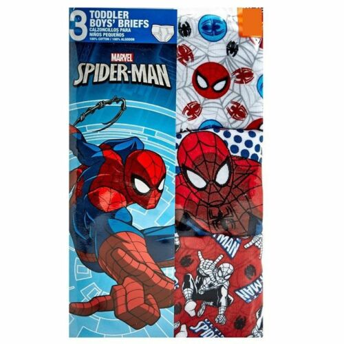 Spider-Man -Toddler Boys Briefs - Size 2T/3T - 3 Packs of 3 - 9 Pairs Total