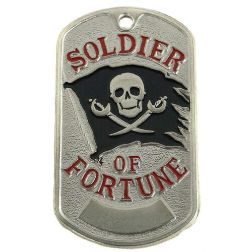 Soldier of Fortune Skull Dog Tag