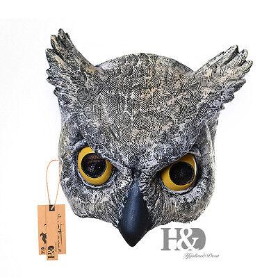 Cosplay Halloween Half Face Owl Mask Latex Animal - Owl Mask