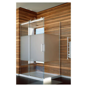 ffb45e04641 Slik FLOW-6034 60 Flow Corner Shower Door Clear Glass Chrome