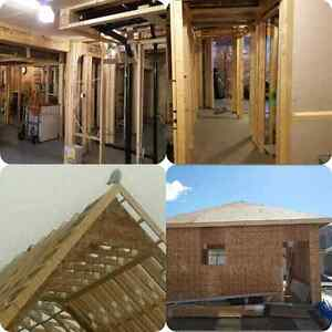 SHC! garage construction , basement reno, framing, drywall, .... Edmonton Edmonton Area image 3