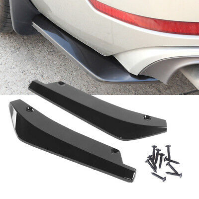 2x Car Rear Lip Bumper Spoiler Canard Diffuser Wrap Angle Splitter Anti-crash UK