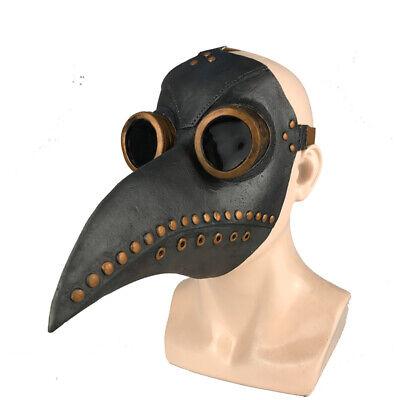 Plague Doctor Bird Long Nose Beak Steampunk Mask Halloween masks Costume Black