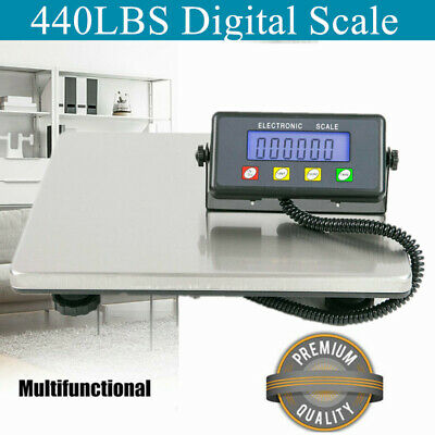 440lbs Weight Computing Digital Floor Platform Scale Postal Shipping Mailing