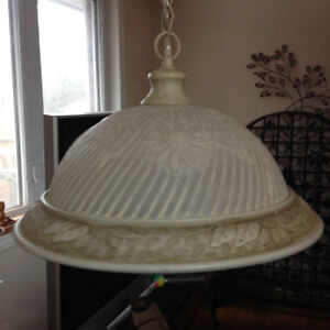 "14.25""D Ceiling light fixture - adgusted hight-no damage"