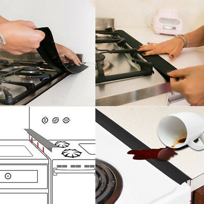 Silicone Kitchen Stove Counter Gap Cover Oven Guard Spill Seal Slit Filler SD