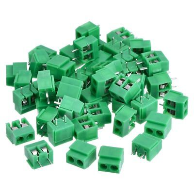 50 Pieces 2 Pin 5 Mm Pinch Pcb Mount Screw Terminal Block Connector 300v 1 J8v2