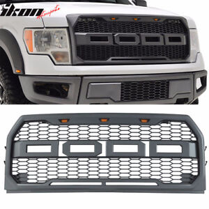 Fits 09-14 Ford F150 New Raptor Style Front Bumper Grille Hood M