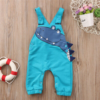 Newborn Baby Boy Girl Dinosaur Costume Romper Bodysuit Jumpsuit Outfits USA wea