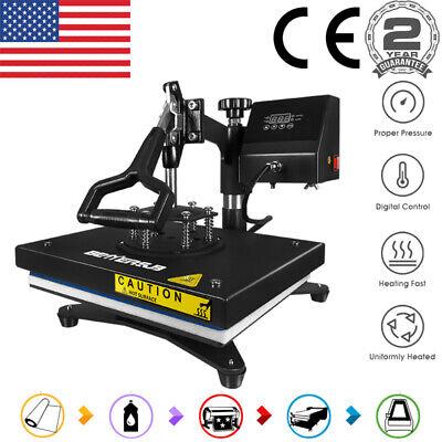 12x9 Swing Away Heat Press Transfer Machine Digital For Diy T-shirt Mouse Pad