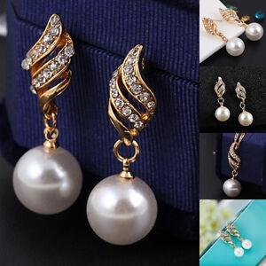 parure collier perles41cm &pierresRhin/cristal/strass+BO 25,00 $