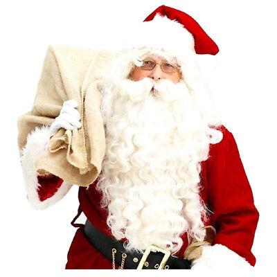 Weihnachtsmann Peruecke + Bart Set Kostuem Zubehoer Erwachsene Weihnachten - Bart Set Kostüm