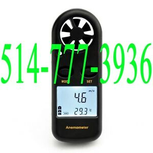 Anemometer Wind Speed Gauge Meter Probe Digital Thermometer