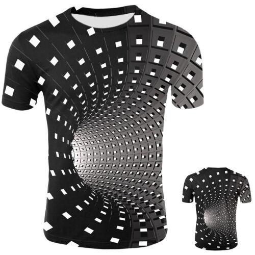 Fancy Hypnosis 3D T-Shirt Men Women Graphic Casual Fashion S