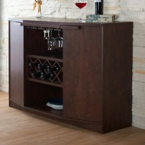 !!! BRAND NEW !!! BAR WITH WINE STORAGE- VINTAGE WALNUT