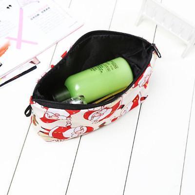 Women's Coin Purse Christmas Santa Claus Wallet Pocket Change Bag Makeup Bag W