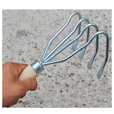 New Stainless Steel Clam Shellfish Mud Flat Rake Hand Rake Garden Gardening Rake