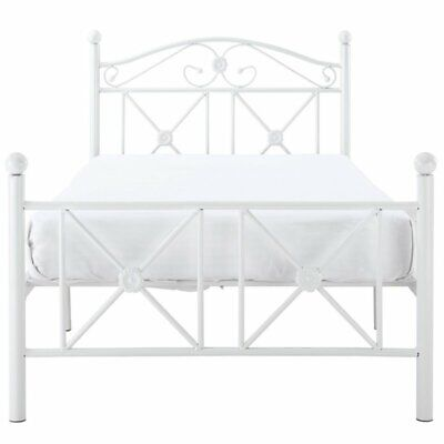 Modway Cottage Twin Metal Bed in White (Cottage Twin Bed)