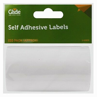 210 X Easy Use Self Adhesive Labels Roll Tags Stickers Blank Sticky Post Address