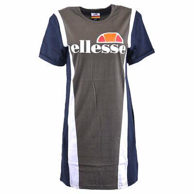 ELLESSE MARTINA Womens T-Shirt Dress Summer Sports Casual Active wear Long Tops