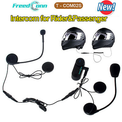Motorcycle Interphone Helmet Bluetooth Intercom Headset with Microphone T-COM02S
