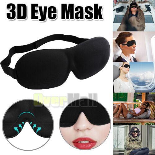 100% Blackout 3D Sleeping Eye Mask Contoured,Adjustable Blin