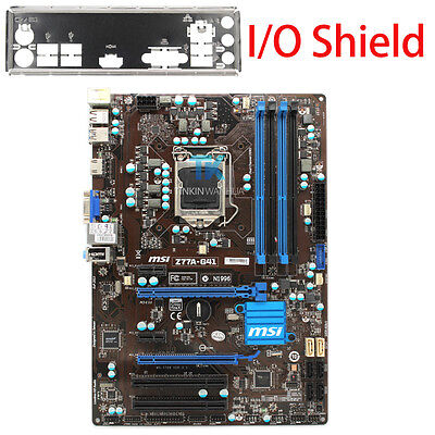 for MSI Z77A-G41  Motherboard LGA 1155 DDR3 for i3 i5 i7 CPU 32GB I/O Shield for sale  Shipping to Ireland