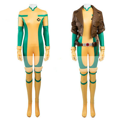 Movie Comic X-Men MARVEL Rogue Anna Marie Cosplay Costumes Outfits Halloween