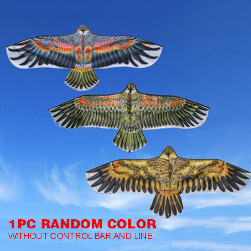 1.1M Huge Flying Eagle Kite Novelty Animal Kites KIds Outdoo