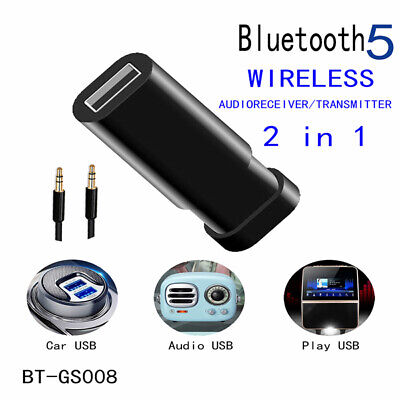 Adaptador de receptor de transmisor de audio Bluetooth 5.0 para altavoz de coche