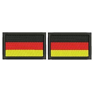 2x DEUTSCHLAND FLAGGE FAHNE mit KLETT Aufnäher Patch gestickt je (4 x 2,5 cm)