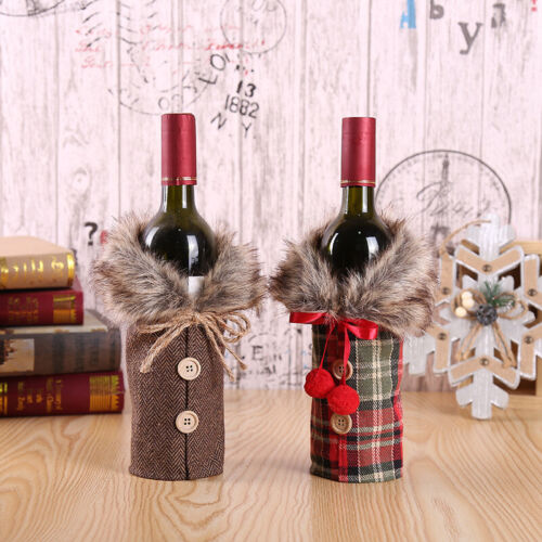 Merry Christmas Santa Wine Bottle Bag Cover Xmas Festival Pa