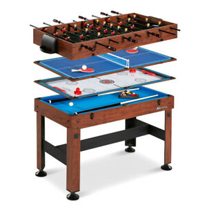 """New MD Sports 54"""" Sports Table 4 in 1! Pool/Ping Pong/Fooseball!"""