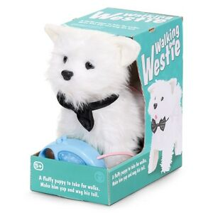 REMOTE CONTROL WALKING WESTIE PUPPY DOG TOY WALKS & BARKS LIKE A REAL DOG 17971