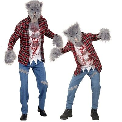 WERWOLF Partnerkostüm für Herren Kinder Jugendliche Kostüm mit Maske - (Partner Halloween Kostüme)