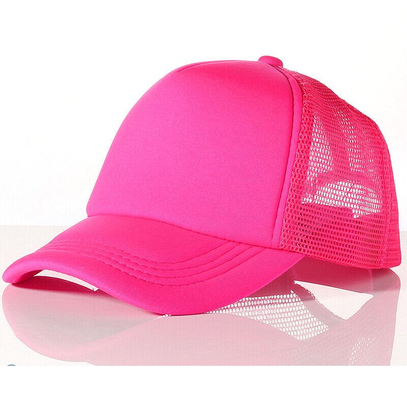 Kids Boys Girls Half Mesh Trucker Hat Toddler Adjustable Snapback Baseball Cap Baby