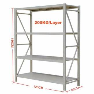 1.2*1.8*0.6M Steel Warehouse Rack Storage Garage Shelving Shelf S