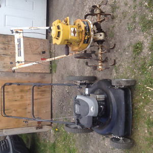 Rototiller and Lawnmower