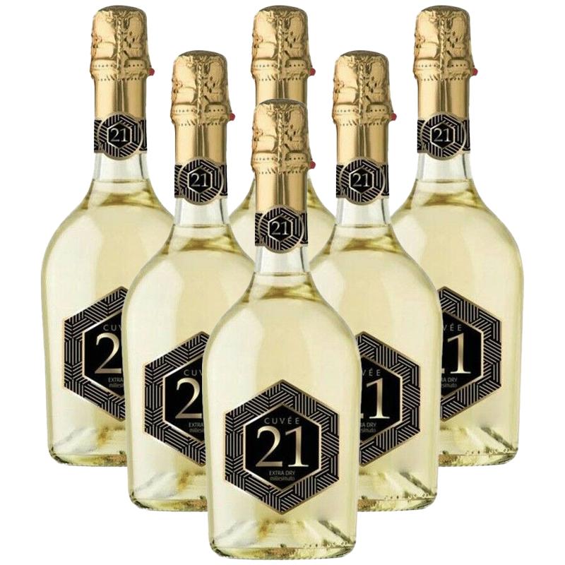 Spumante 21 Cuvée Millesimato Extra Dry cl75 x 6 Bottiglie Spumante no Prosecco