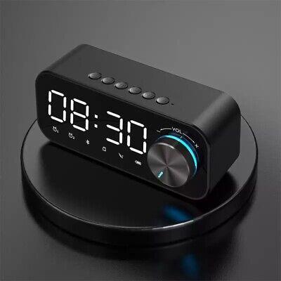 Reloj despertador Digital con Bluetooth, altavoz con pantalla Digital LED, Subwo
