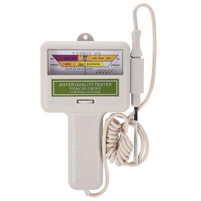 Agua calidad PH/CL2 Medidor Ensayador Nivel de Cloro para Piscina Spa blanc...