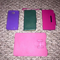 3 Samsung Note 2 Cases & iPad Case ($5.00 Each)