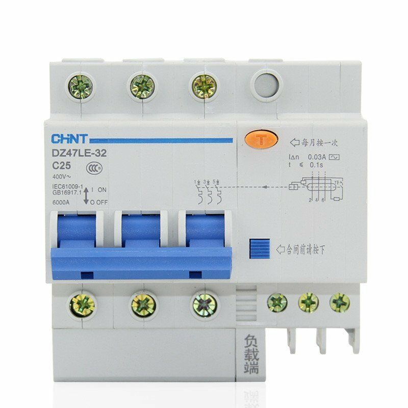 40Amp 30mA 3Pole+N RCD/RCCB  Residual Current  Circuit Breaker CHINT DZ47LE-32