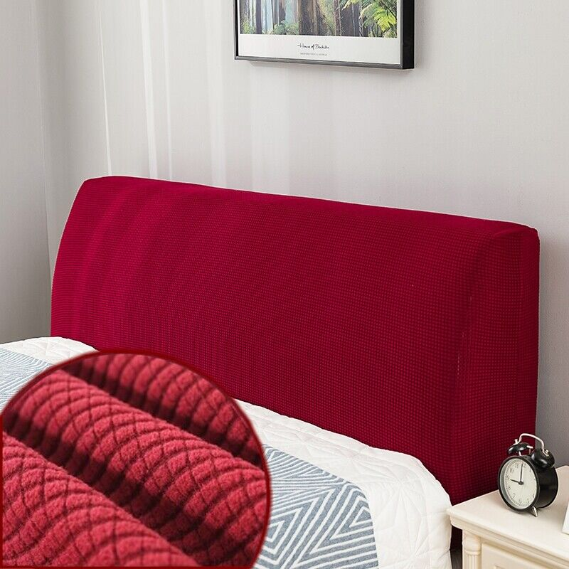 Elastic Bed Headboard Slipcover Solid Color Bed Head Back Dust Cover Protection Beds & Mattresses