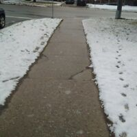 Icy driveways and sidewalks snow removal