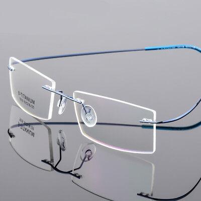 (Flexible Rimless memory titanium Alloy Eyeglasses Unisex Glasses Frame Eyewear)