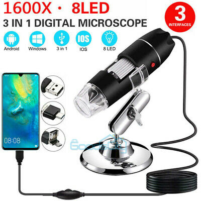 1600x Usb Digital Microscope Handheld Zoom Biological Endoscope Camera Pocket