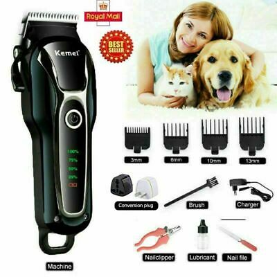 Electric Professional Pet Dog Grooming Clipper Kit Thick Fur Hair Trimmer Shaver